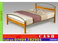 Wooden Metal Bed Frame Double Size- Brand New