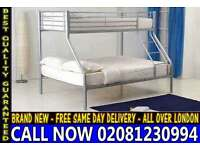 single top double bottom trio sleeper metal bunk base Base/ Bedding
