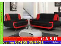 HIGH QUALITY ITALIAN PU LEATHER 3 AND 2 SEATER SOFA BED -BRAND NEW CAROL