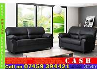 BRAND NEW ITALIAN LEATHER 3 AND 2 SEATER SOFA SUITE SET IN BLACK OR BROWN COLOUR