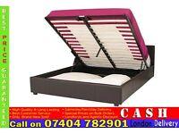 Single/Double/Kingsize Diamond leather ottoman storage bed frame with Mattress- Brand New