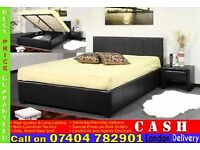 SINGLE/DOUBLE/KINGSIZE LEATHER OTTOMAN STORAGE BED FRAME WITH MATTRESS OF CHOICE- Brand New