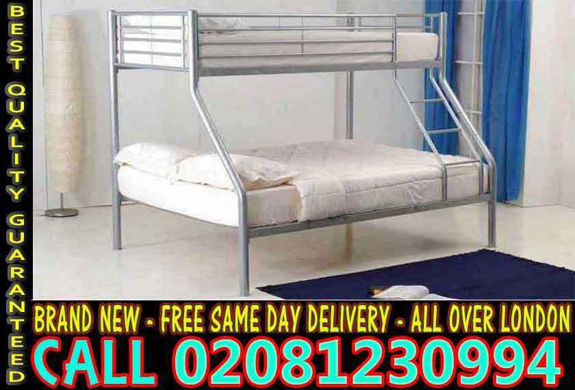 WOW FREE DELIVERYsingle top double bottom trio sleeper metal bunk base (Base) Beddingin Old Street, LondonGumtree - Brand New Furniture sale All types of furniture available. Bed, sofa, wardrobe, bunk bed, dining set, coffee tables.Just a call and we will assist you