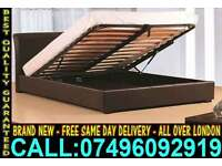 **Free Delivery** Single / Double / King size Storage Leather Bed & Mattress