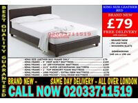 ***Brand New King Size Leather Bed Available With Mattress*** Poestenkill