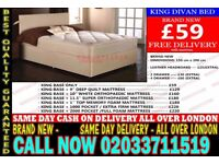 ***Brand New King Size Divan Bed Available With Mattress*** Lamar