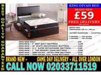 ***Brand New King Size Divan Bed Available With Mattress*** Robinson