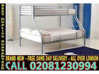 **** WOW FREE DELIVERY *** single top double bottom trio sleeper metal bunk base (Base) Bedding rom