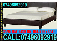 Brand New Single Double Small Double KingSize Leather Bed And Mattress