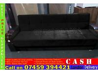 BRAND NEW 3 SEATER SLEEPER LEATHER AND FABRIC SOFA BED WITH OTTOMAN STORAGE SPACE SOFABED