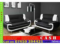 BRAND NEW Italian PU Leather Black/white, Brown/Cream, Red/Black 3 and 2 Seater SOFA SUITE