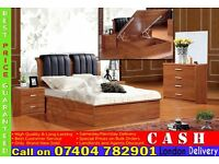 Single/Double/Kingsize Wooden Ottoman Storage Bed Frame- Brand New