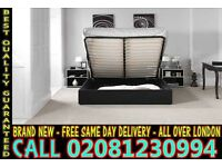 STRONG PU Leather Storage Frame Double Single Bedding Black Brown Jamestown