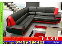 BRAND NEW ITALIAN LEATHER 5 SEATER CORNER SOFA SUITE IN BLACK, BROWN, RED COLOR. 3+2 SET