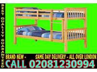 Double Single WOODEN Bunk Base, That convert into two- /Bedding
