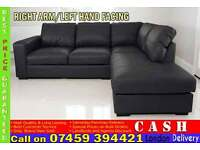 BRAND NEW PREMIUM LEATHER WESTPOINT CORNER SOFA SUITE IN LEFT AND RIGHT HAND FACING.
