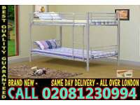 **** WOW FREE DELIVERY *** single metal bunk split in 2 single (Base) Bedding