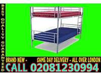 **** WOW FREE DELIVERY *** single metal bunk split in 2 single (Base) Bedding leicester