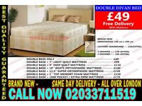 ***BRAND NEW SMALL DOUBLE DIVAN BED WITH MATTRESS*** Flint