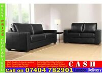 3+2 PU/Faux Leather Sofa Sets from £199- Brand New