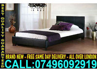 **Free Express Delivery**Brand New Faux leather single Double and kingsize Bed ..Call Now