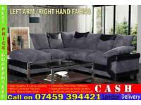 FABRIC CORNER SOFA SUITE AVAILABLE IN 3 AND 2 SEATER SET ALSO