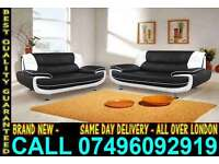 BRAND NEW CAROL 3 + 2 SEATER FAUX LEATHER SOFA .. CALL NOW