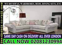 Sofa Available in Corner Sofa or 3+2+1 Seater Fabric Sofas