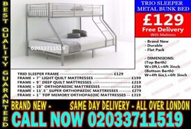 ***WOW Offer Brand New Trio Bunk. Bed and Mattress Today Delivery *** Palo Alto