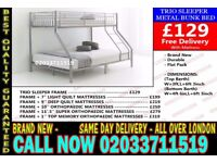 ***WOW Offer Brand New Trio Bunk. Bed and Mattress Today Delivery *** Slade