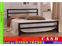 SINGLE/DOUBLE/SMALL DOUBLE CITY METAL BED FRAME WITH MATTRESS OF CHOICE IN BLACK/WHITE COLOR