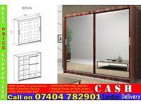 German 2 Door Sliding Mirror Wardrob- Brand New in Black Brown Walnut White Oak Colour