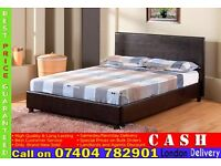 SINGLE/DOUBLE/KING SIZE LEATHER BED FRAME WITH CHOICE OF MATTRESS- Brand New