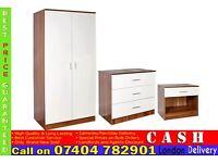 2 Door wardrob High Gloss Set RRP£299- Brand New