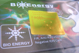 Quantum Scalar Energy Negative Ions (3,000ion) Wallet sized Card (telsa-scalar based tech) £9