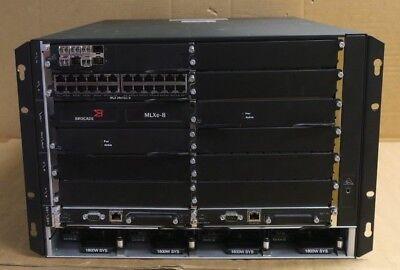 Brocade MLXe-8 BR-MLXE-8-MR2-M-AC 8-Slot Chassis + Switch Mods + 2x Fabric Mods - Brocade Mode