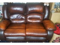 2nd Hand Leather Recliner Sofa