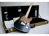 Fender American Deluxe Telecaster S1 Obsidian Black & Tweed Hard Case