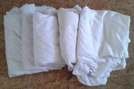 6 x used cotton sheets. Ideal for dust sheets - diy, decorating, painting etc - selling other items