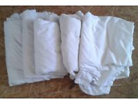 8 x used cotton sheets. Ideal for dust sheets - diy, decorating, painting etc