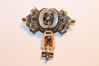 Antike 14k Gold Brosche Biedermeier Antikschmuck antique Gold brooch ❤️ Z00242