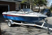 1986 Sunray boat and trailer for sale
