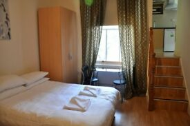 Bright Large Studio in Bayswater for Long Lets £320 per week alls bills included