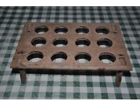 old antique wooden egg stand / egg tray