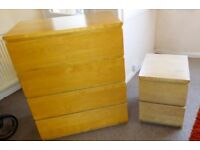 Set of 2 chest of draws (ikea)