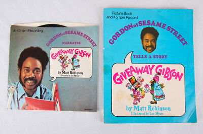 Giveaway Gibson Book and 45 Record by Gordon of Sesame Street, - Sesame Street Giveaways