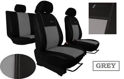 Mk2 up to 2010 Black Eco Leather Tailored Rear Seat Covers Ford Focus Mk1