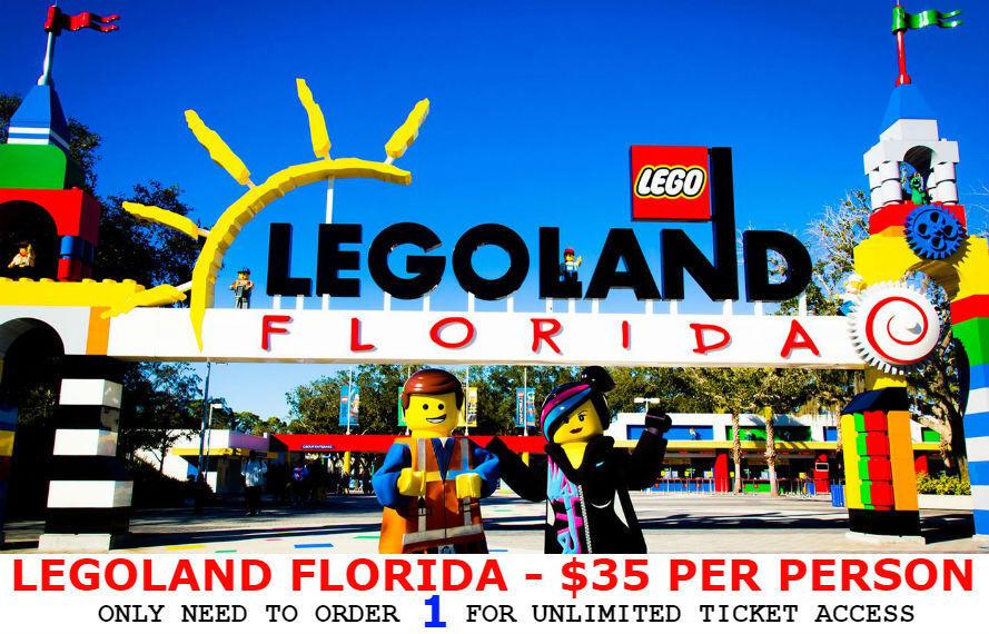 LEGOLAND FLORIDA TICKETS $35   A PROMO DISCOUNT SAVINGS TOOL - GOOD THROUGH 2019