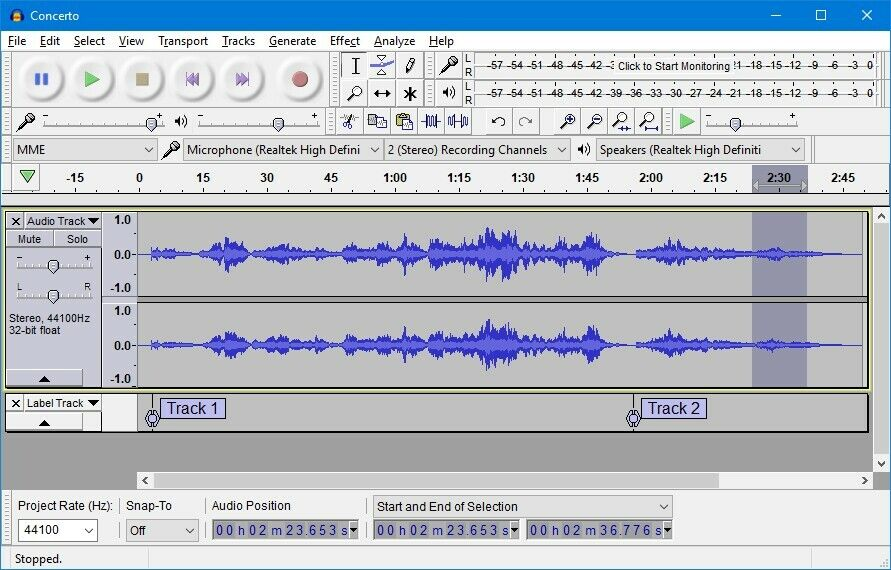 Audacity 2020 Professional Audio Music Editing Recording Software Windows OS