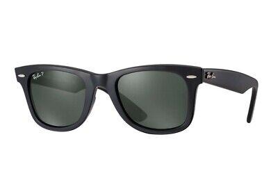 Authentic Ray Ban Original Wayfarer Black Polarized Sunglasses RB2140 901/58